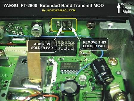 Copper Talk: Yaesu FT-2800M Modifications