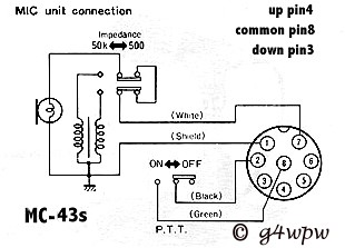 copper talk kenwood mc 43 mic pinout rh copperelectronics com kenwood 4 pin mic wiring kenwood mic wiring diagram 4 pin