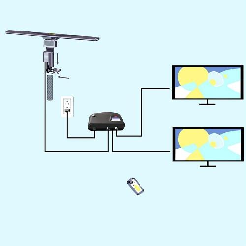 Outdoor Amplified Hdtv Antenna Uhf Vhf 360 Degree