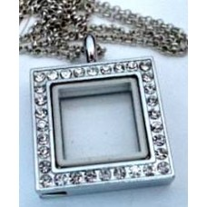 Square Floating Charm Necklace