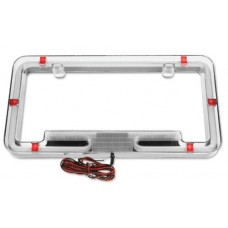 PlasmaGlow Red Neon License Plate Frame