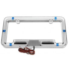 PlasmaGlow Blue Neon License Plate Frame
